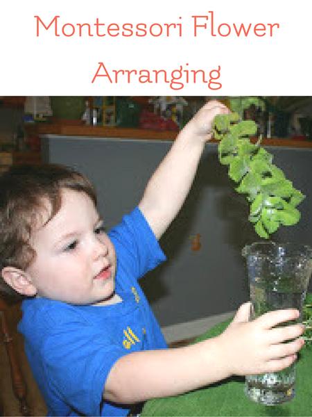 montessori flower arranging activity