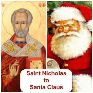 saint nicholas to santa