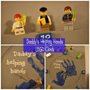LEGO clock craft for dad
