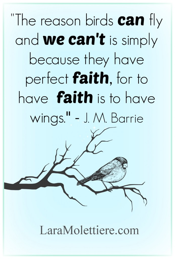 finding wings with faith