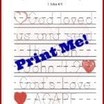 print me valentines tracing sheet