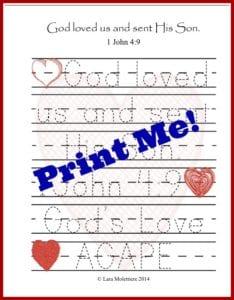 print me valentines tracing sheet