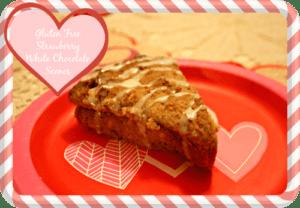 gluten free strawberry white chocolate scones