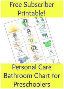 free printable bathroom chart for subscribers only