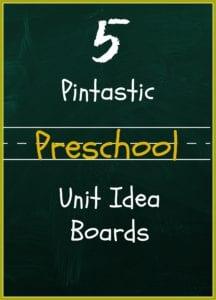 5 preschool unit idea boards