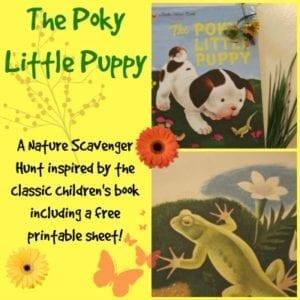 Poky LittlE Puppy Inspired nature scavenger hunt