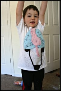 human body preschool unit organ t shirt