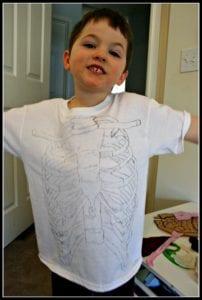 human bosy preschool tshirt ribcage