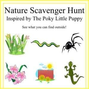 Poky puppy scavenger hunt sheet
