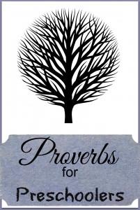 Proverbs activity for preschoolers