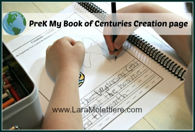 My book of centuries preK example page