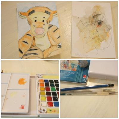 watercolor materials Audrey Bunny