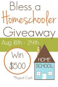 bless a homeschooler giveaway win $500