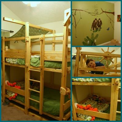 Boys bedroom collage
