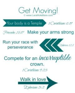 Get Moving scriptures for fitness