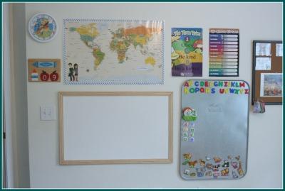 classroom wall homeschool