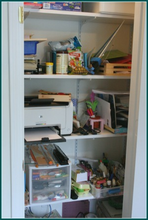 storage in homeschool classroom