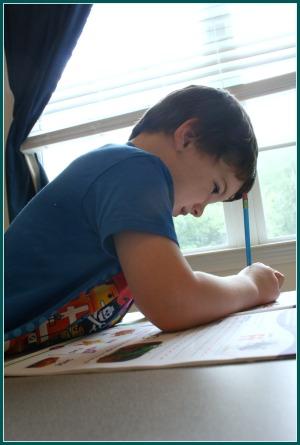 homeschool room student