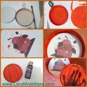 Good Night Little Pumpkin hand print activity
