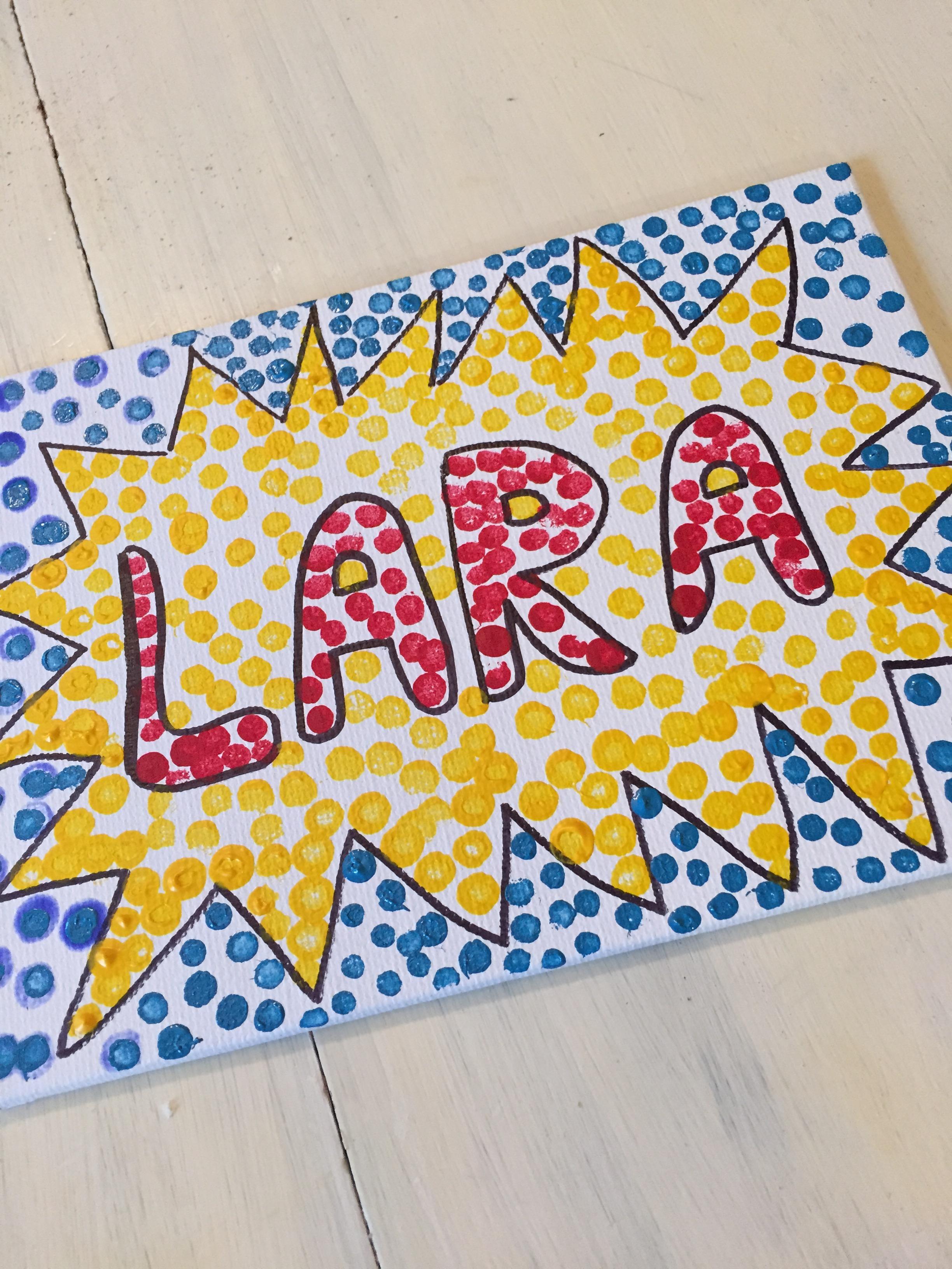 lichtenstein inspired art elementary grades