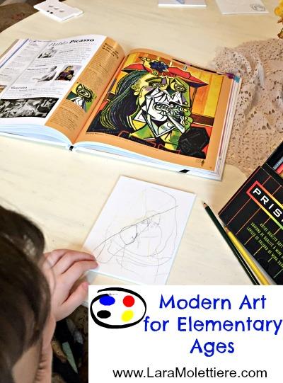 modern art for elementary ages