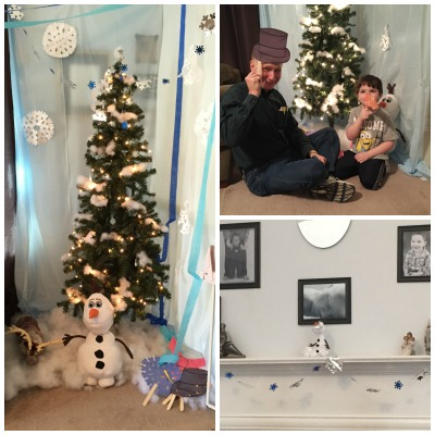olaf photo booth and mantle
