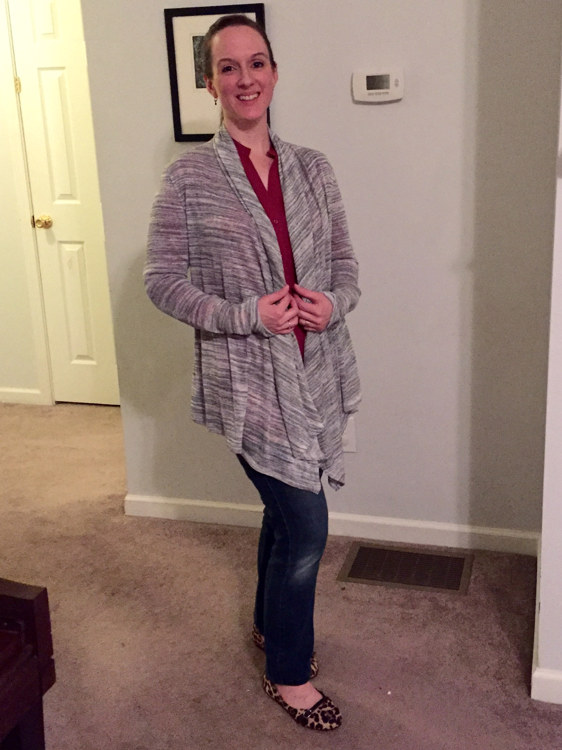 Stitch Fix tips and review Renee C Huebert Space Dye Cardigan