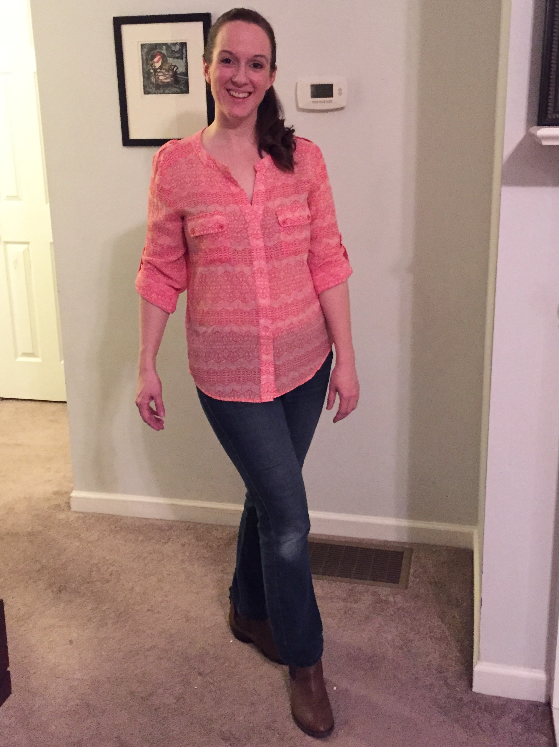 Stitch Fix tips and review Collective Concepts Rilo Graphic Tab Sleeve Blouse