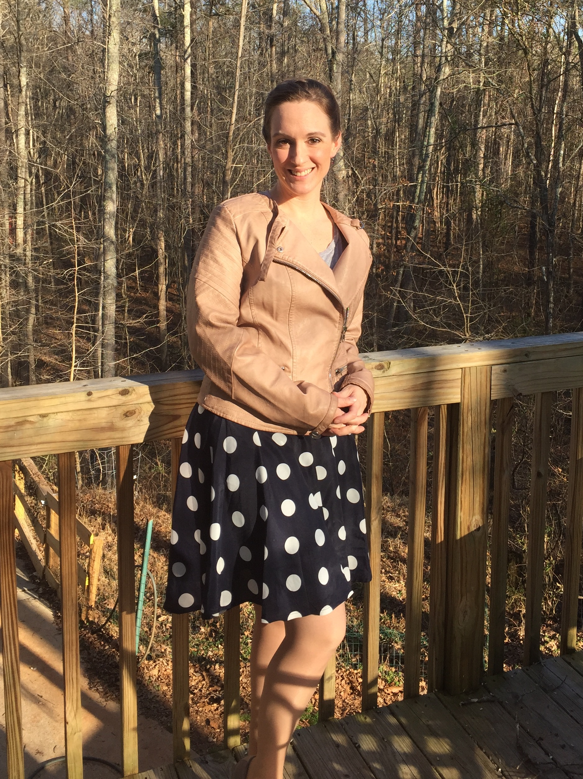 Stitch Fix tips and review Akio Vegan Faux Leather Jacket RD Style