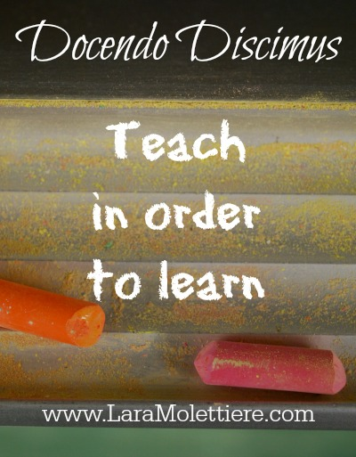 teach in order to learn