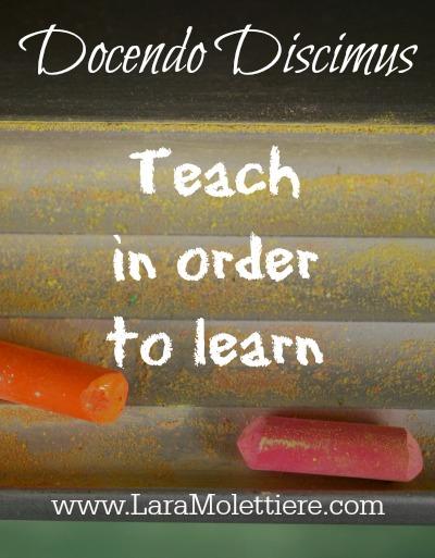 Docendo Discimus: Teach in Order to Learn