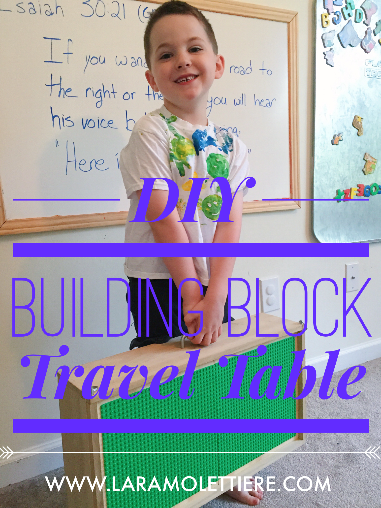 Building Block Travel Table