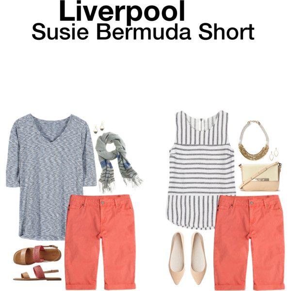 Liverpool Susie Bermuda Shorts
