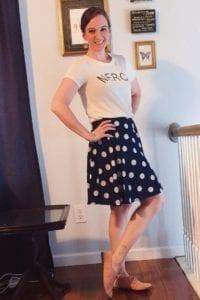 stitch fix hanneli skirt corby knit top