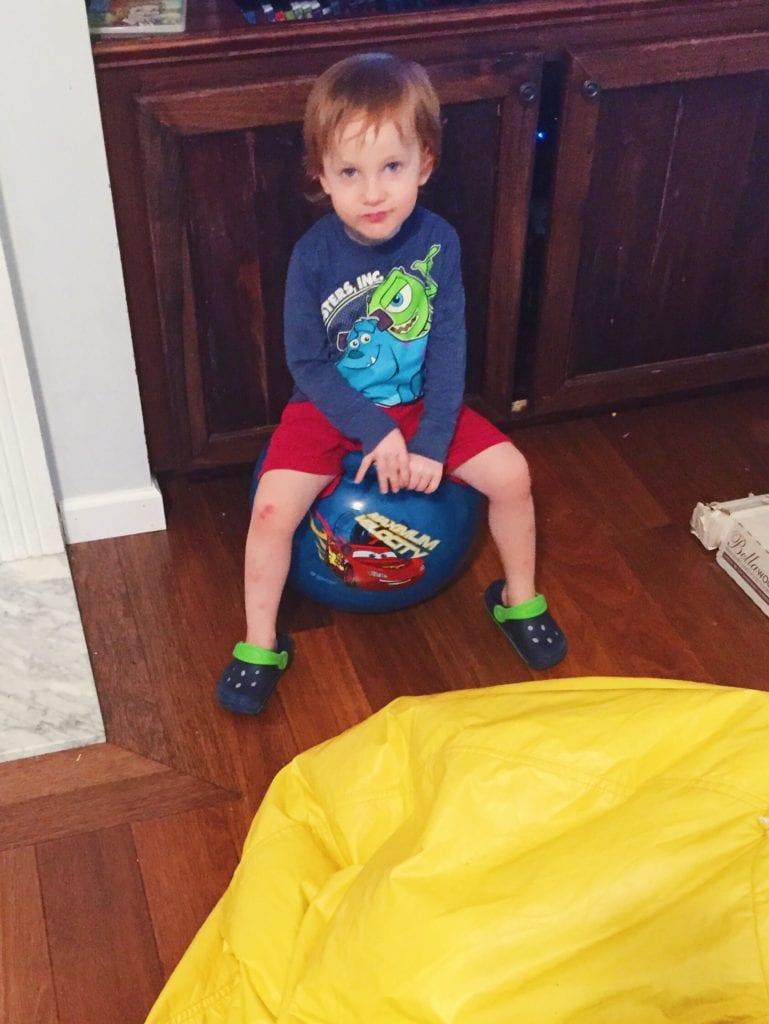 Hopper ball for spd kids