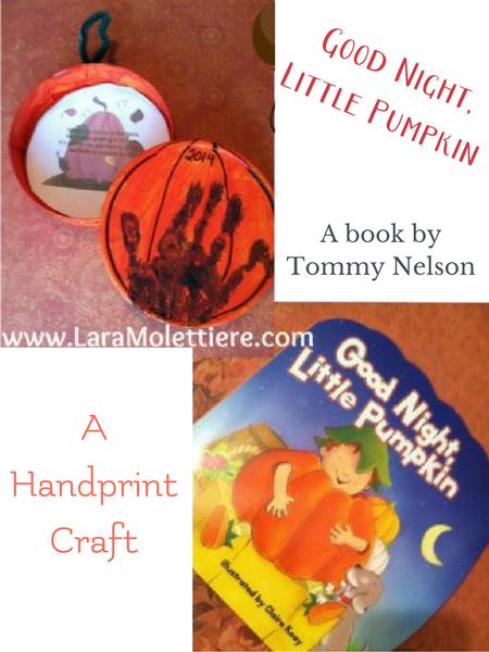 fall handprint craft for preschool