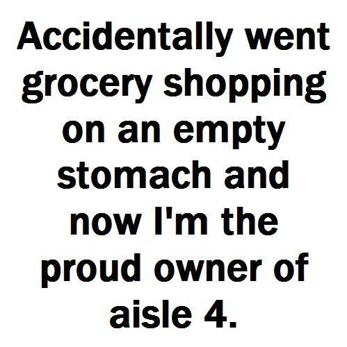 don't grocery shop hungry