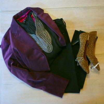 stitch fix purple blazer