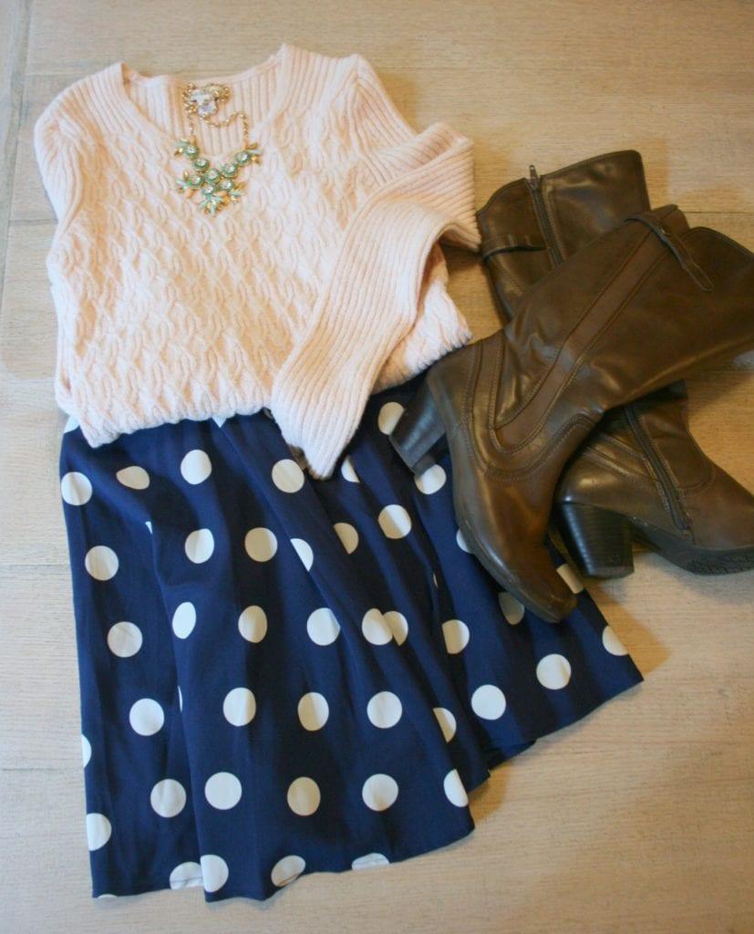stitchfix fall wardrobe skirt