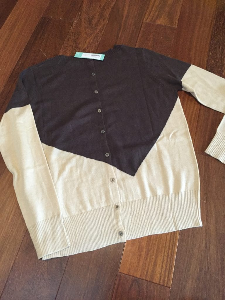 41Hawthorn Presley Colorblock Button-Back Sweater back