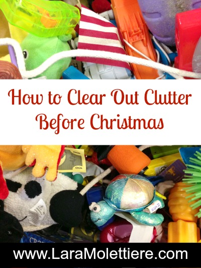how to clear out clutter before holidays