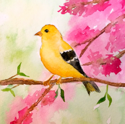goldfinch watercolor you are a masterpiece
