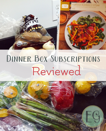 dinner box subscriptions reviewed