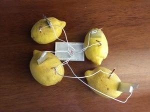 make a lemon battery genius light