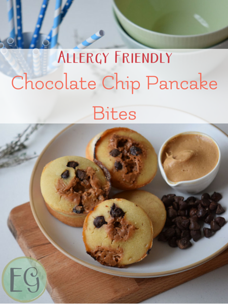 Gluten free kid friendly recipe for Chocolate Chip Pancake Bites. Part of Kids in the Kitchen at Everyday Graces.