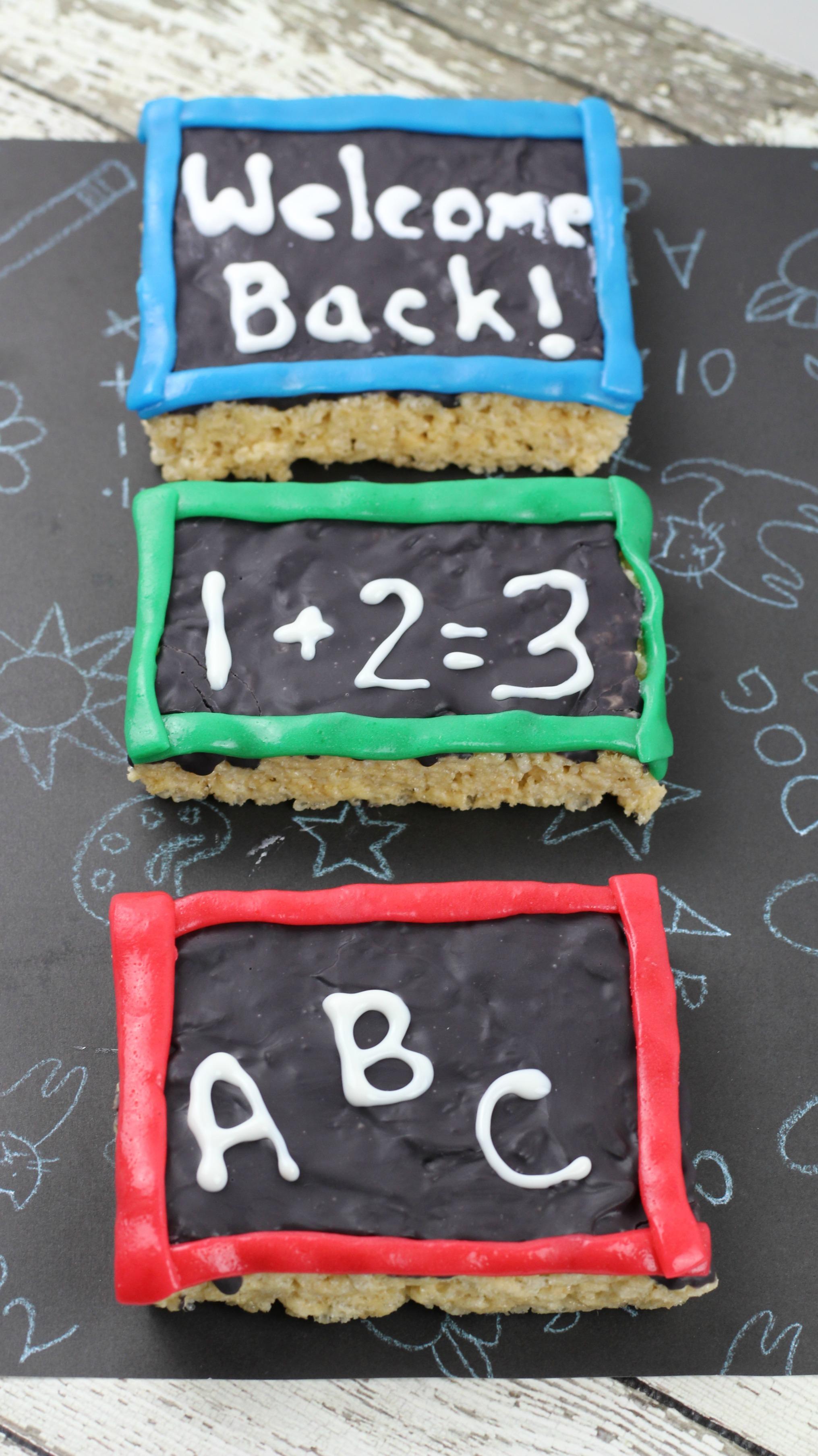 chalkboard rice crispy