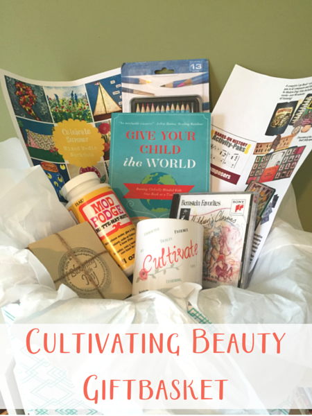 Cultivate Beauty gift basket full