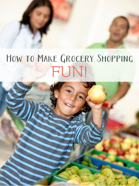 make grocery shopping fun for littles