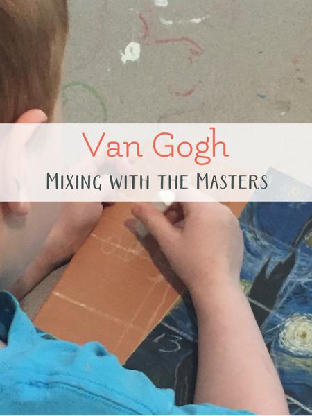 van gogh art project with kids
