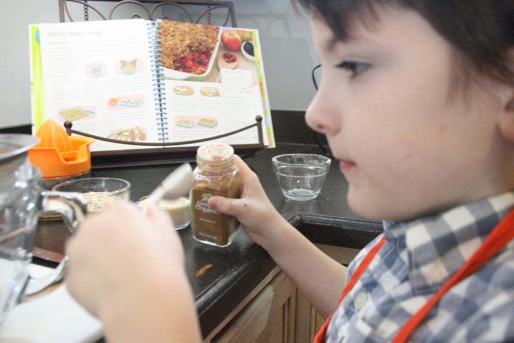 cooking in the kitchen with kids